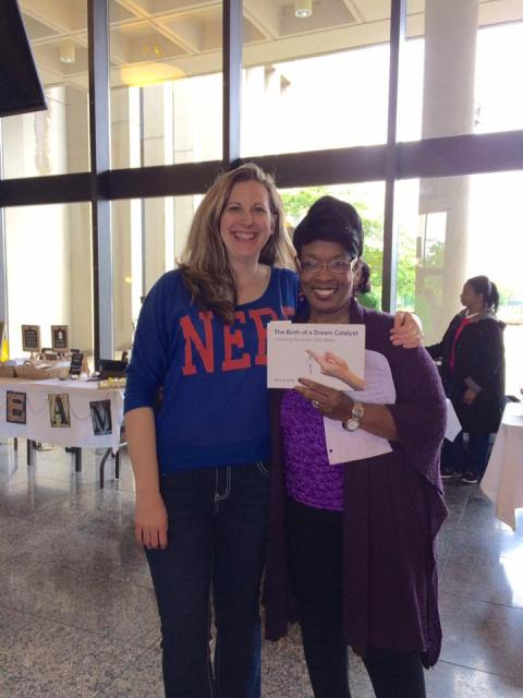 Mary Johnson Miller and I at Dayton Book Expo